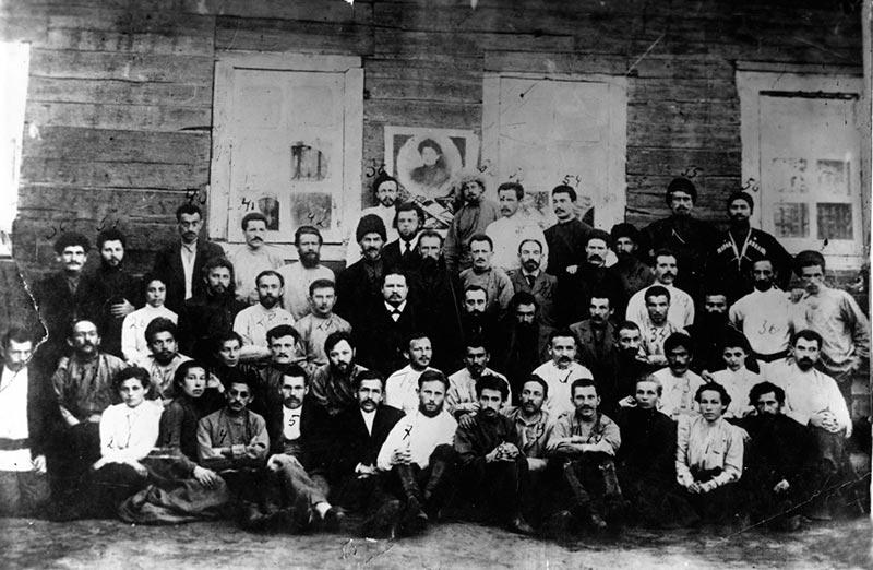 Участники Романовского вооруженного протеста в Якутске в феврале-марте 1904 г.