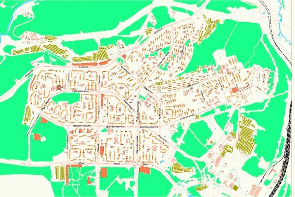 Карта города Нерюнгри