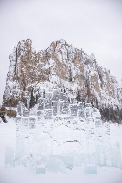 Ледяные фигуры под Ленскими столбами