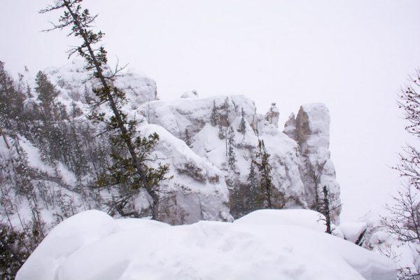 Вид на Ленские столбы с вершины
