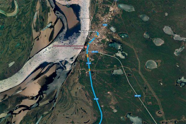 Карта Нижнего Бестяха