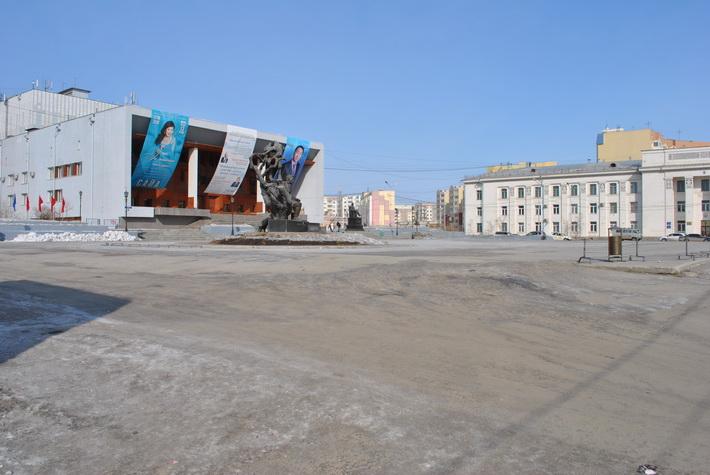Площадь Дружбы в Якутске