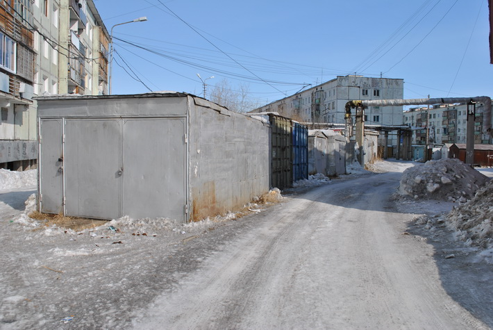 Гаражи в центре Якутска