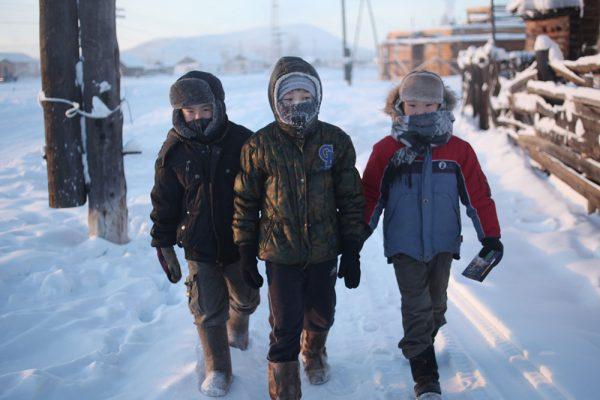 Дети в Оймяконе