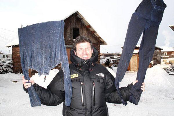 Как на Полюсе холода замерзает одежда