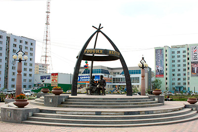 Памятник С.И. Дежневу в Якутске