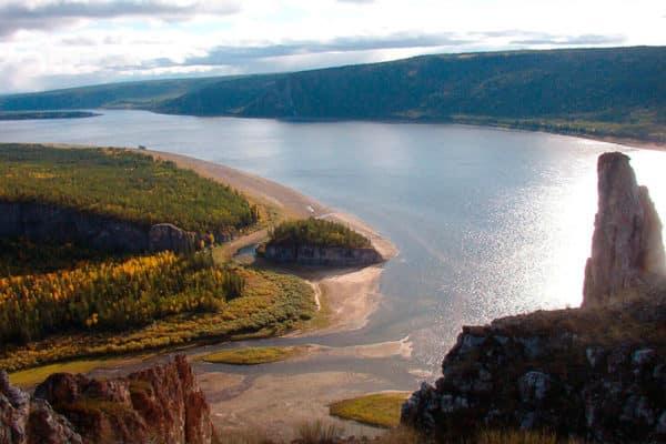 Река Лена в Якутии
