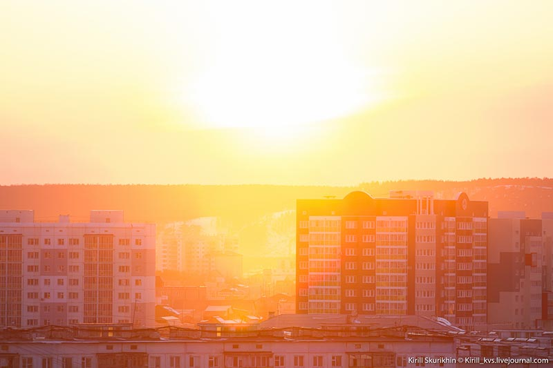 Закат в Якутске