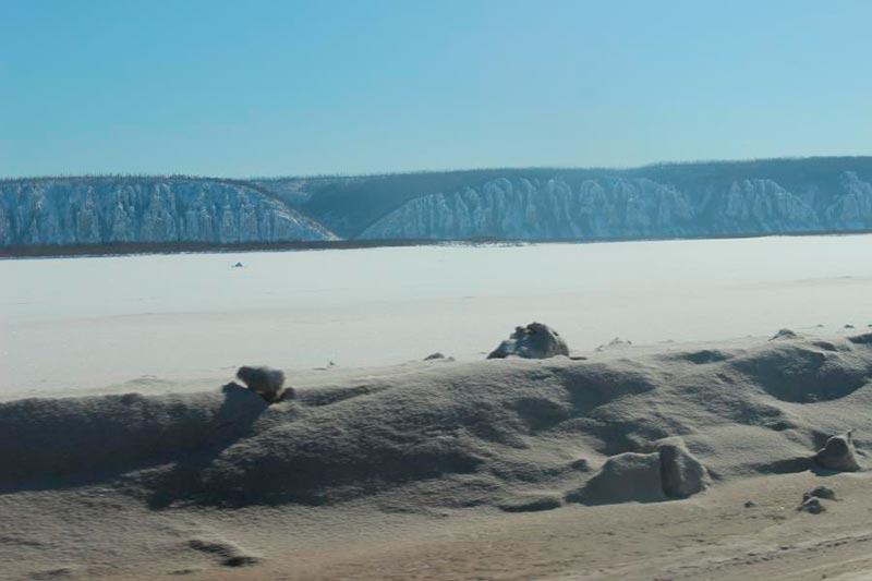 Река Лена зимой