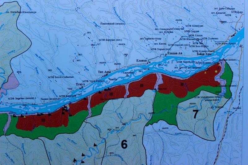 Схема зонирования Ленские столбы